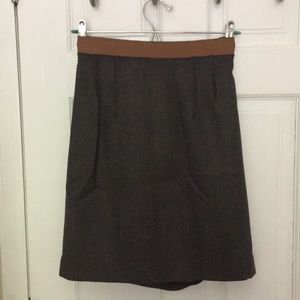Brown Loft Pencil Skirt